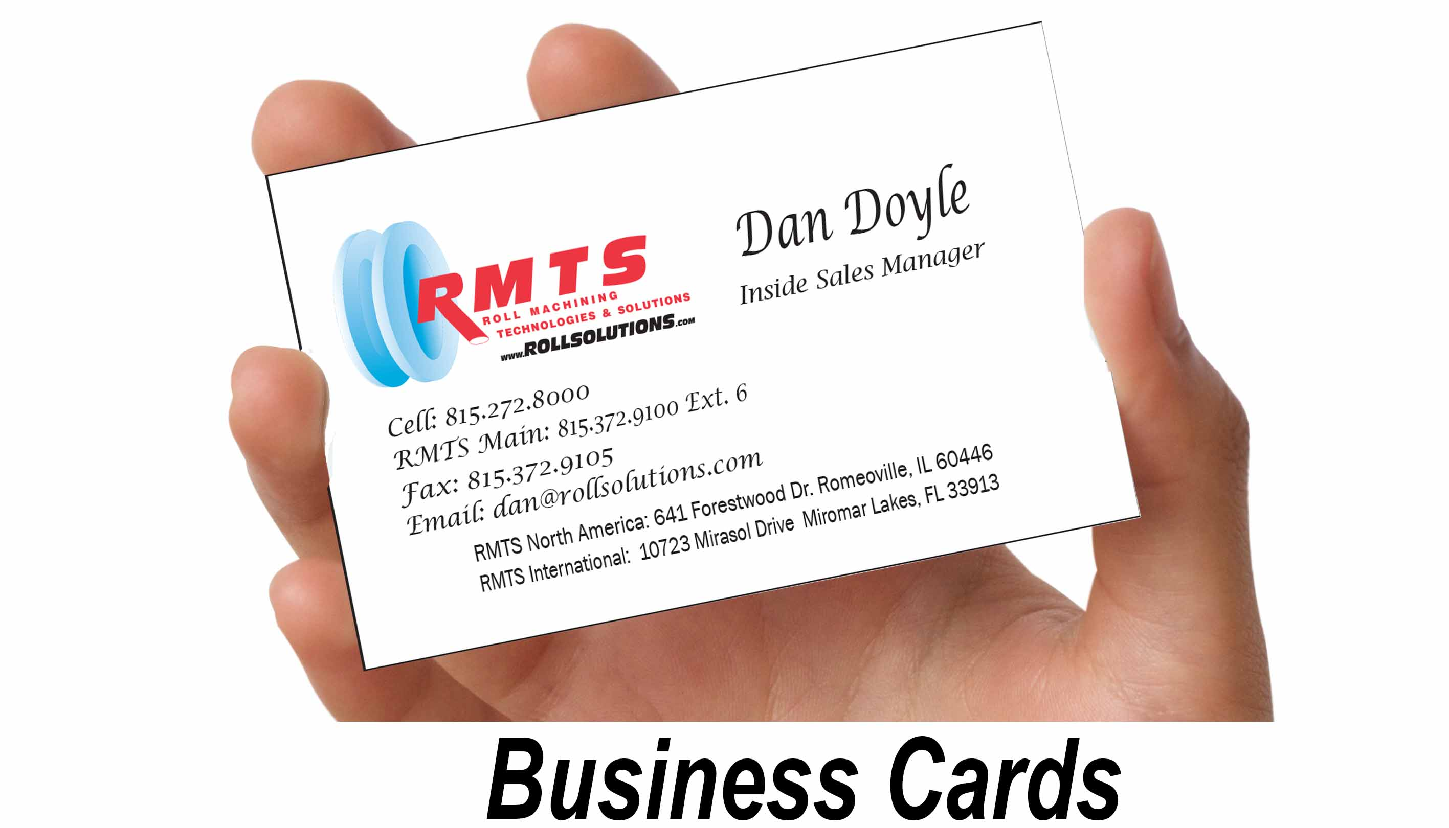 Roll Machining Technologies & Solutions – – Sales Rep Business Cards